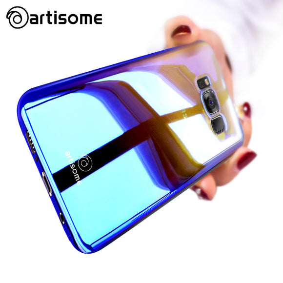 ARTISOME Case For Samsung S8 S8 Plus Aurora Gradient Color Hard Back PC Cover For Samsung Galaxy S8 Plus Case Coque Transparent