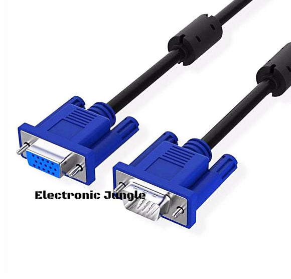 1.5m 3m 3+6 VGA Cable Male to Female Extension Cable 1080P Video Computer Laptop Analog Signal for Projector Monitor screen DVD