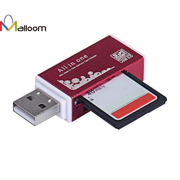 2017 Universal High quality Metal USB 2.0 All In 1 Multi SD TF Memory Card Reader for PC Computer Mobile phone&15