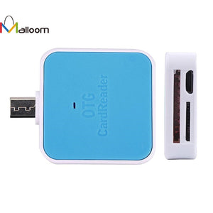 2017 SD/TF/MMC memory card reading 2In1 V8 OTG TF/SD Smart Card Reader Adapter Card Reader For Android Smartphone