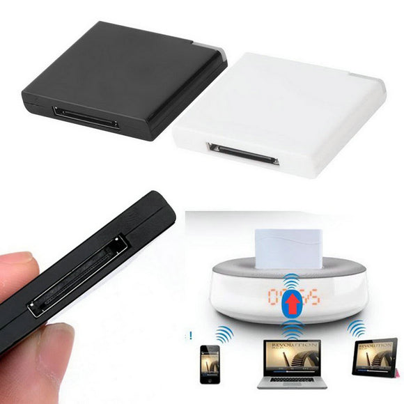 1pcs Bluetooth A2DP Music Receiver Adapter for iPod For iPhone 30-Pin Dock Speaker Wholesale Drop Shipping