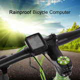 BoGeer Bike Motorbike Cycling Computer Sensors Rainproof LCD Backlit Bicycle Speedometer Odometer Calendar Stopwatch Rainproof Style