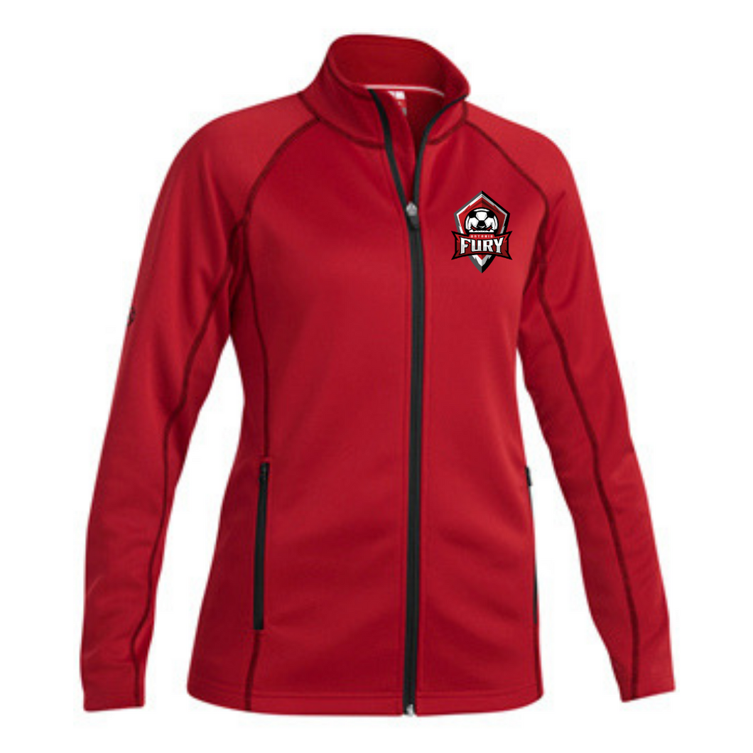 Red Zip Up Jacket - Female