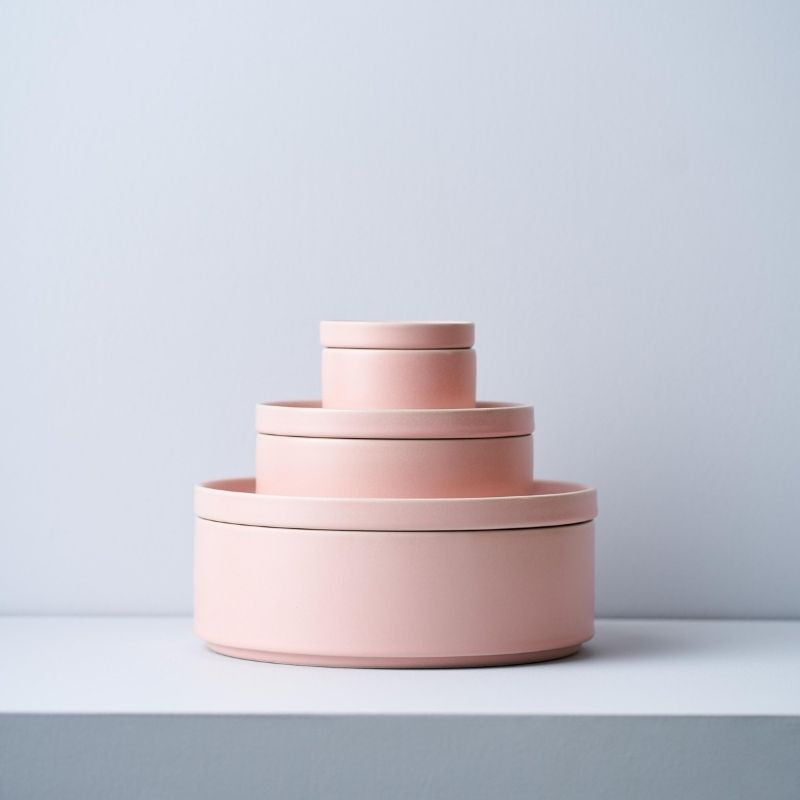 Pink Dinner Stack, Serve and Store Bowl & Plate