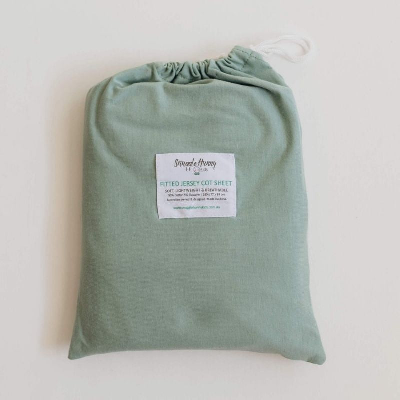 Sage Fitted Cot Sheet