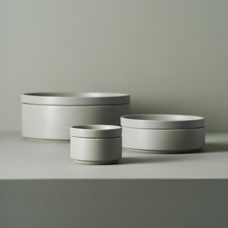 Grey Dinner Stack, Serve and Store Bowl & Plate