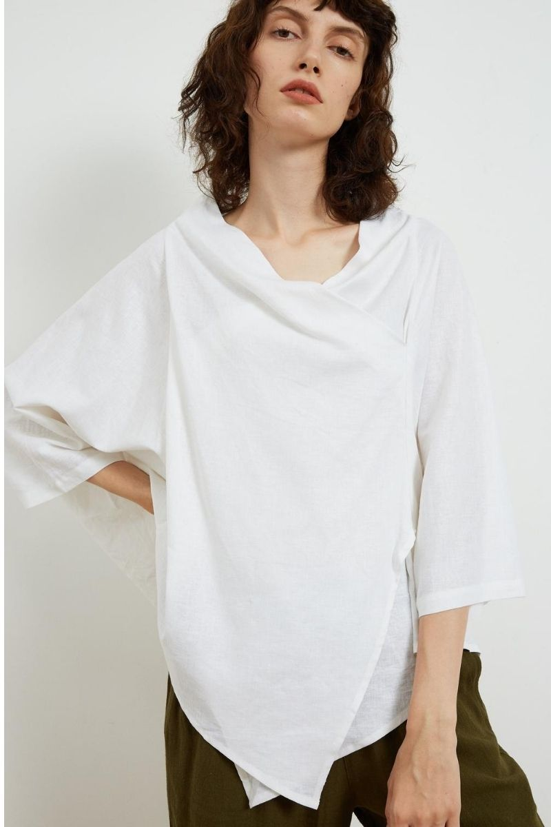 Cowl Neck Gather Top