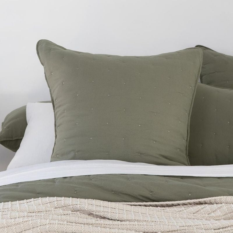 Willare Euro Pillowcase - Moss