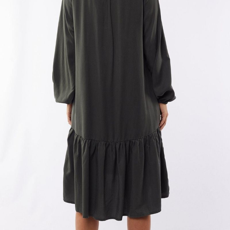 Yarra Long Sleeve Dress - Olive