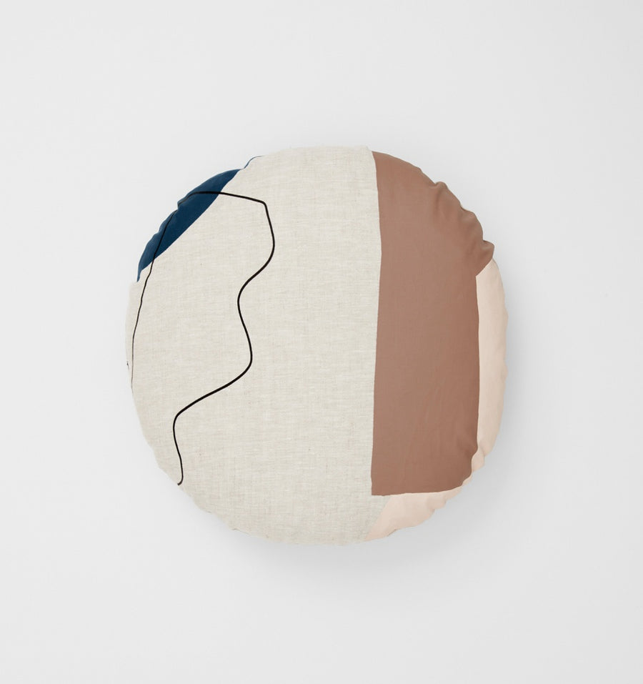 Arles Toffee Round Cushion