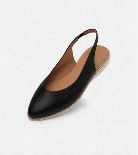Madison Slingback - Black Suede