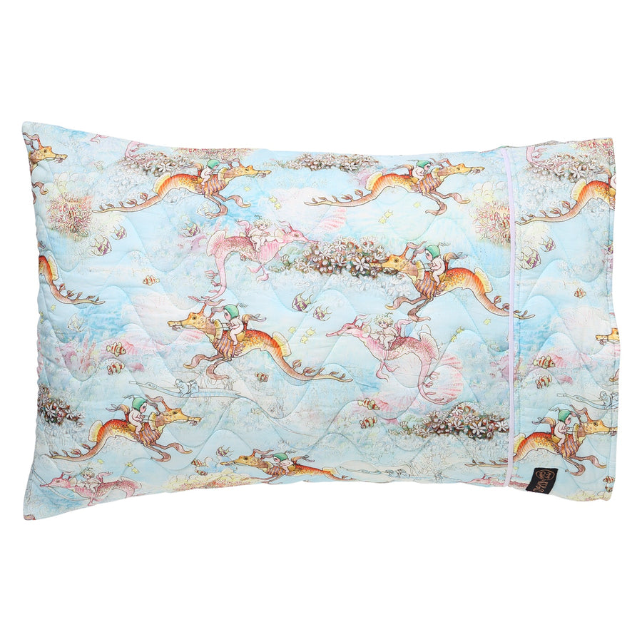 May Gibbs Ocean Babes Quilted Pillowcase