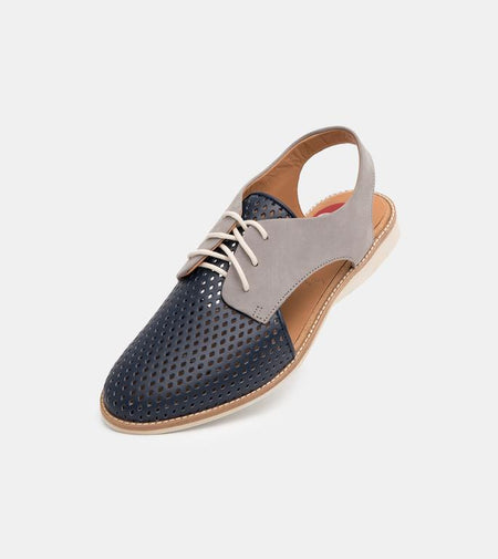 Slingback Punch Navy and Grey