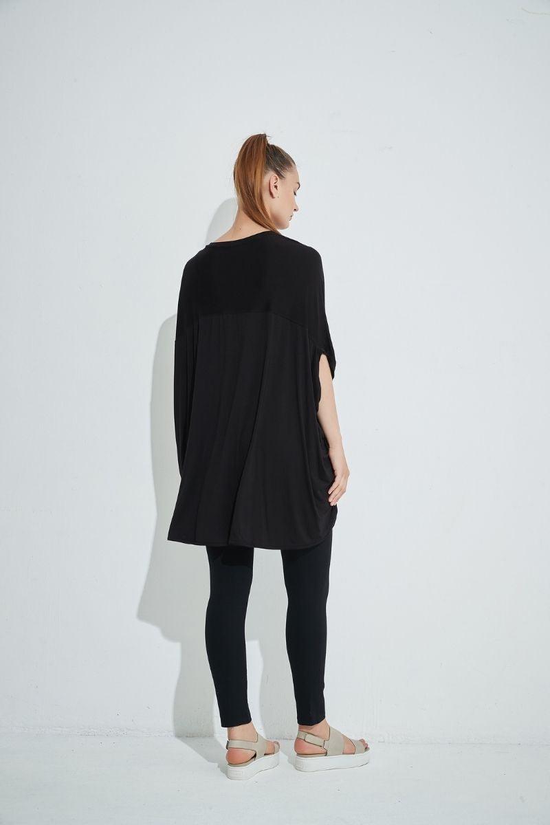 Black Oversized Relaxed Top