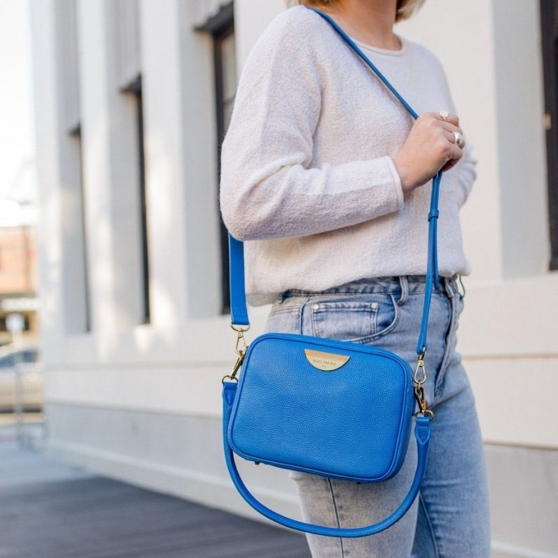 Cobalt Sidekick Crossbody Bag - Antique Gold