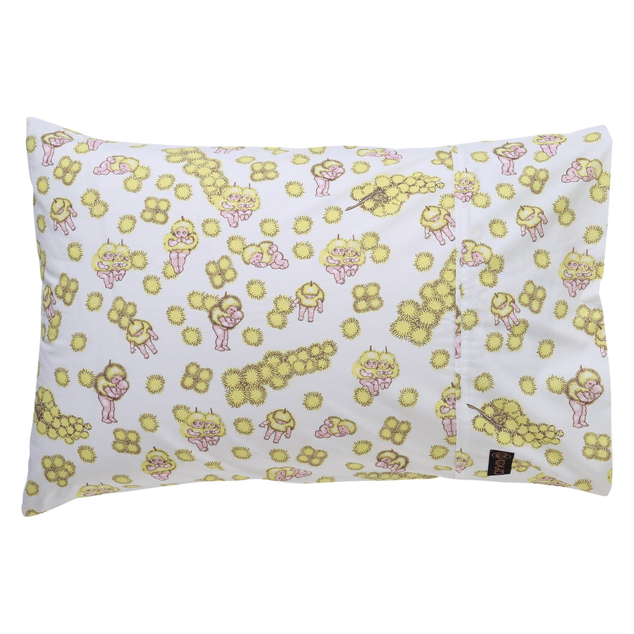 May Gibbs Wattle Babies Single Pillowcase
