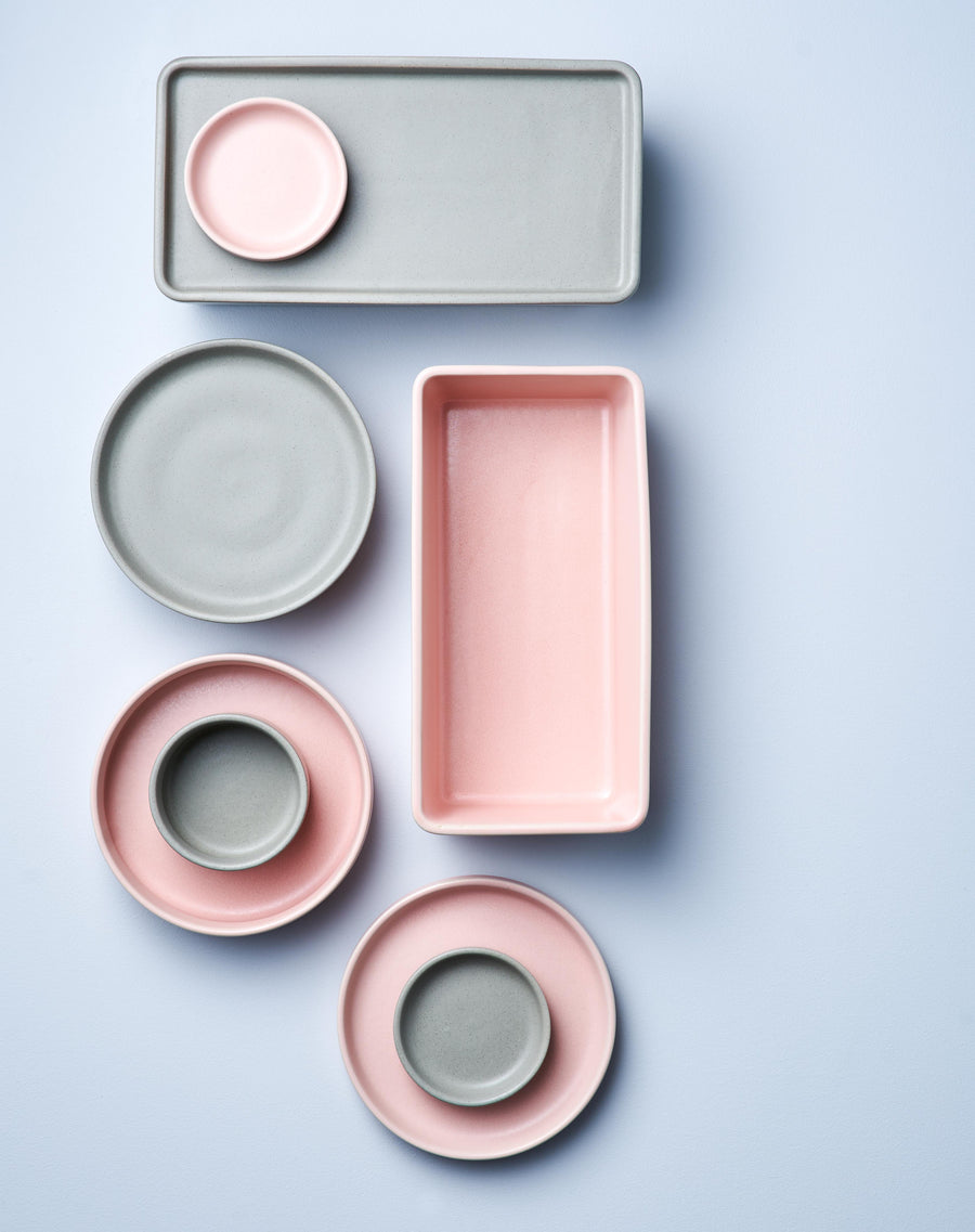 Pink Rectangle Stack, Serve and Store Bowl & Plate