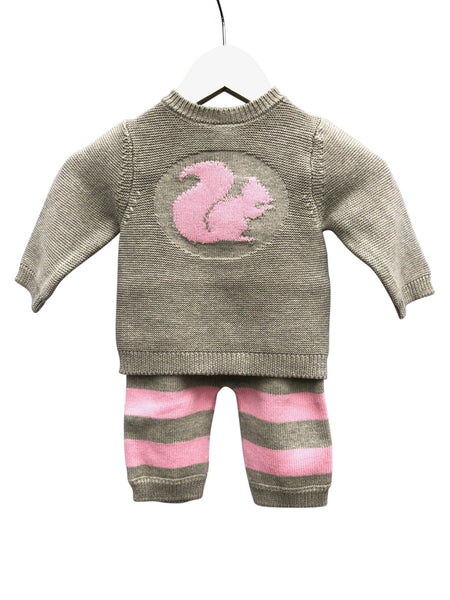 Pink Squirrel Knitted 2 Piece