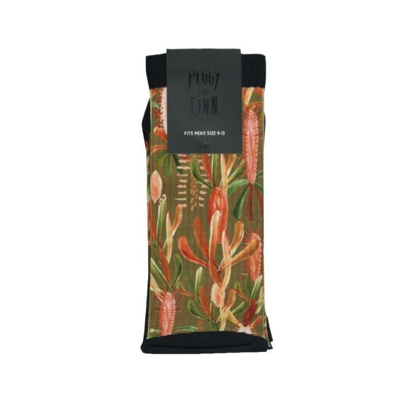 Grass Tree Sage Socks