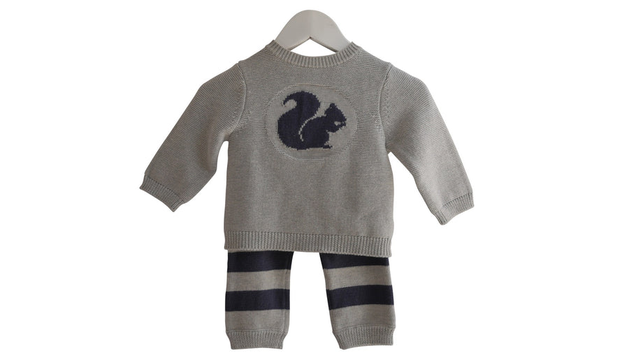 Grey Squirrel Knitted 2 Piece