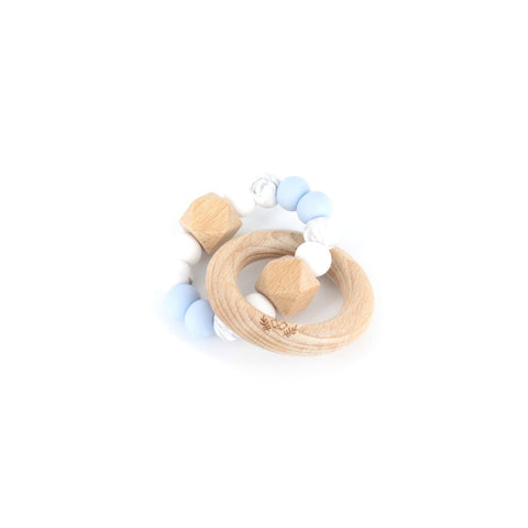 HEXX Teething Rattle - Marble Blue
