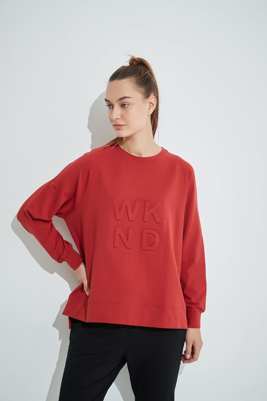 WKND Embossed Sweat - Brick