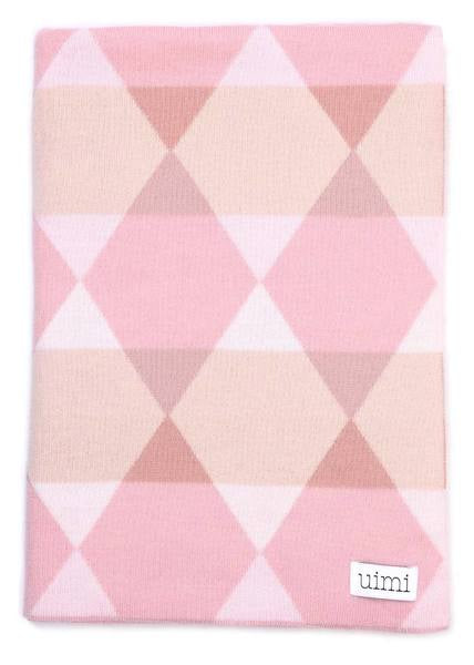 Isaac Double Sided Geometric Pattern Blanket - Rose