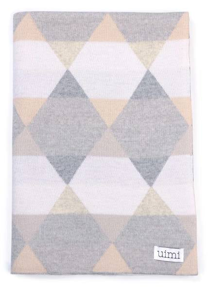 Isaac Double Sided Geometric Pattern Blanket -Salt