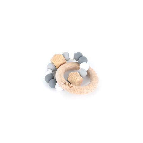 HEXX Teething Rattle - Grey Ombre
