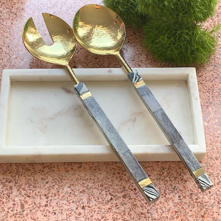 Savannah Marble Salad Servers