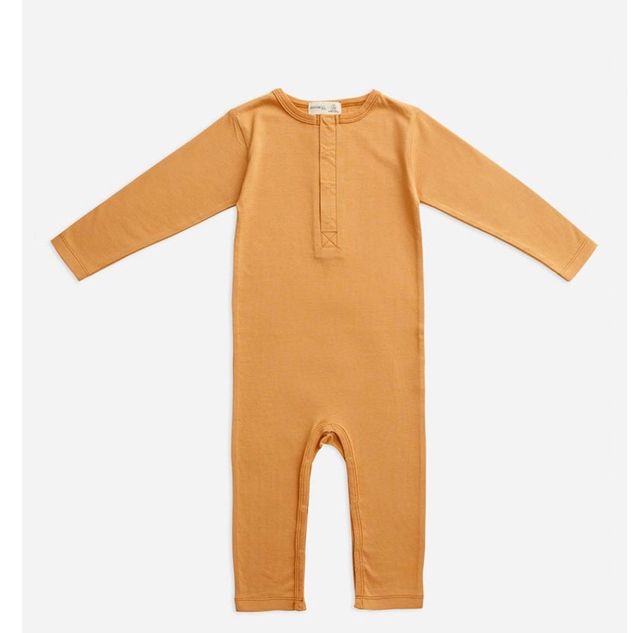 Organic Cotton Full Sleeve Jumpsuit - Clay