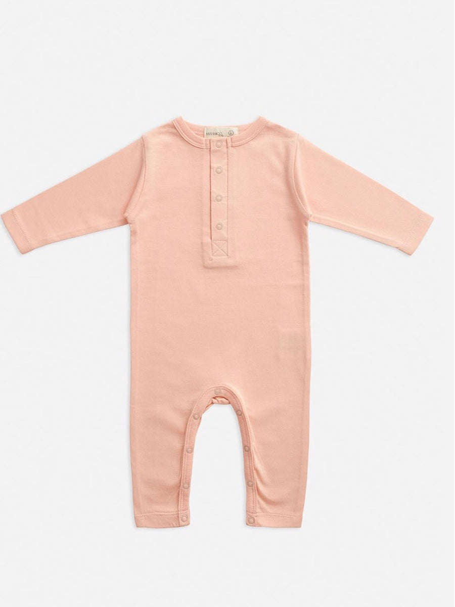 Organic Cotton Full Sleeve Jumpsuit - Evening Sand