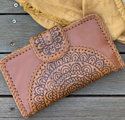Hand Tooled Mandala Clutch - Various