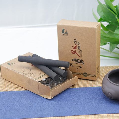 Smokeless moxa with chrysanthemum stick
