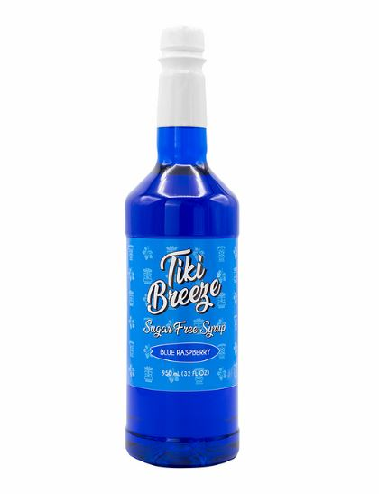 Tiki Breeze Syrup - Sugar Free Blue Raspberry