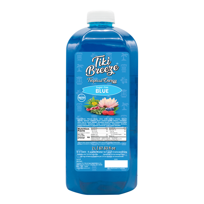 Tiki Breeze - Sugar-Free Blue Tropical Energy Concentrate