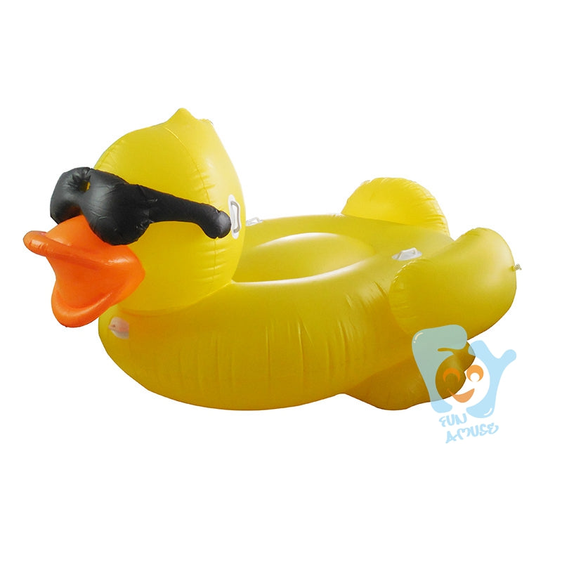 giant inflatable yellow duck with glasses pool floats swimming float