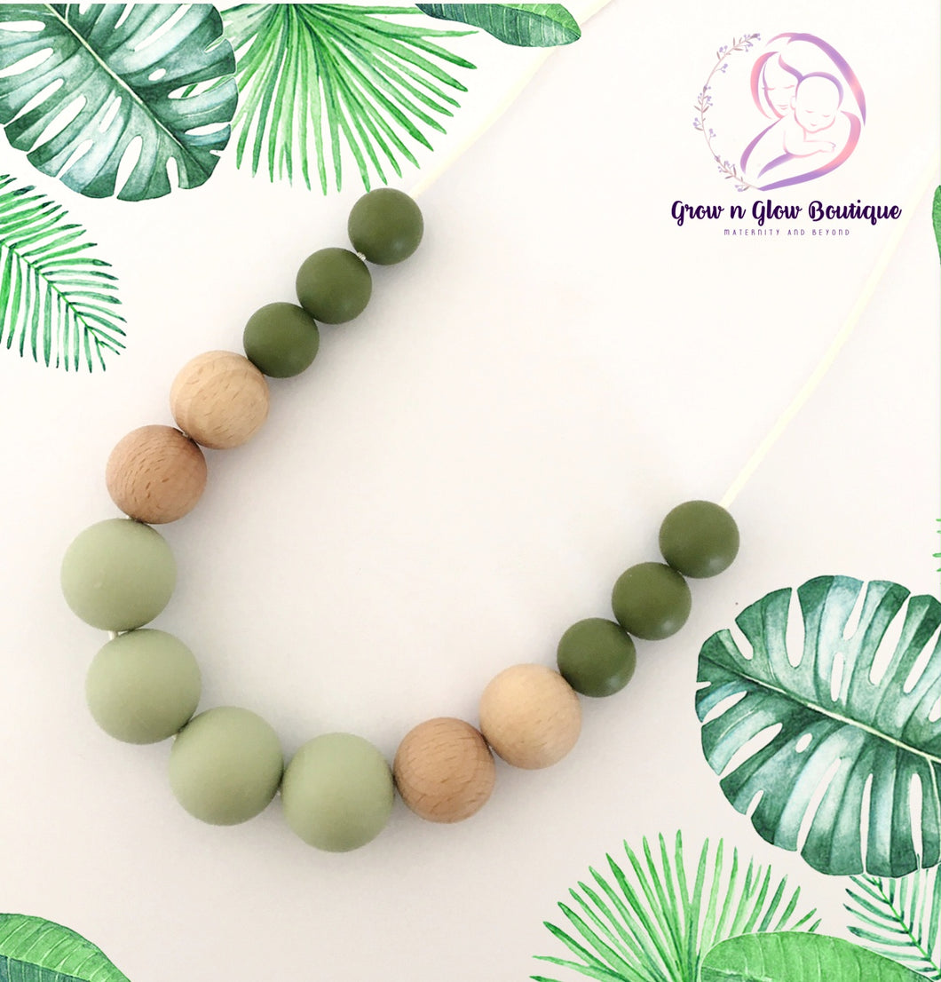 'OLIVE' Silicone Breastfeeding Necklace