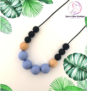 'DREAM' Silicone Breastfeeding Necklace - Pastel Blue