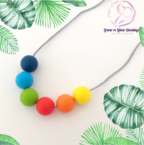 'RAINBOW' Silicone Breastfeeding Necklace