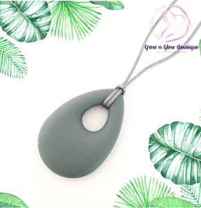 'BELLE' Silicone Breastfeeding Necklace - Grey
