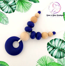 'LUCIA' Silicone Breastfeeding Necklace - Blue