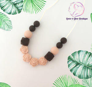 'BLOSSOM' Silicone Breastfeeding Necklace