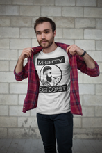 Men's Short Sleeve T-Shirt, decorated with Captain Mighty and Mighty East Coast