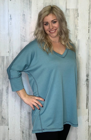 Light Blue Slouch Top