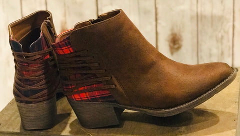 Plaid Bootie
