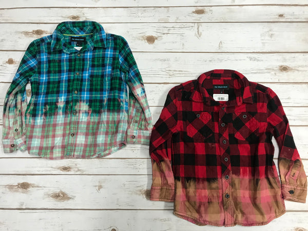 Youth Distressed Flannel Shirts
