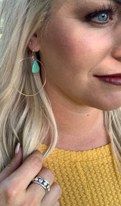 Sterling Silver Real Turquoise Earrings