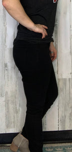 Black Denim Pull On Jeggings