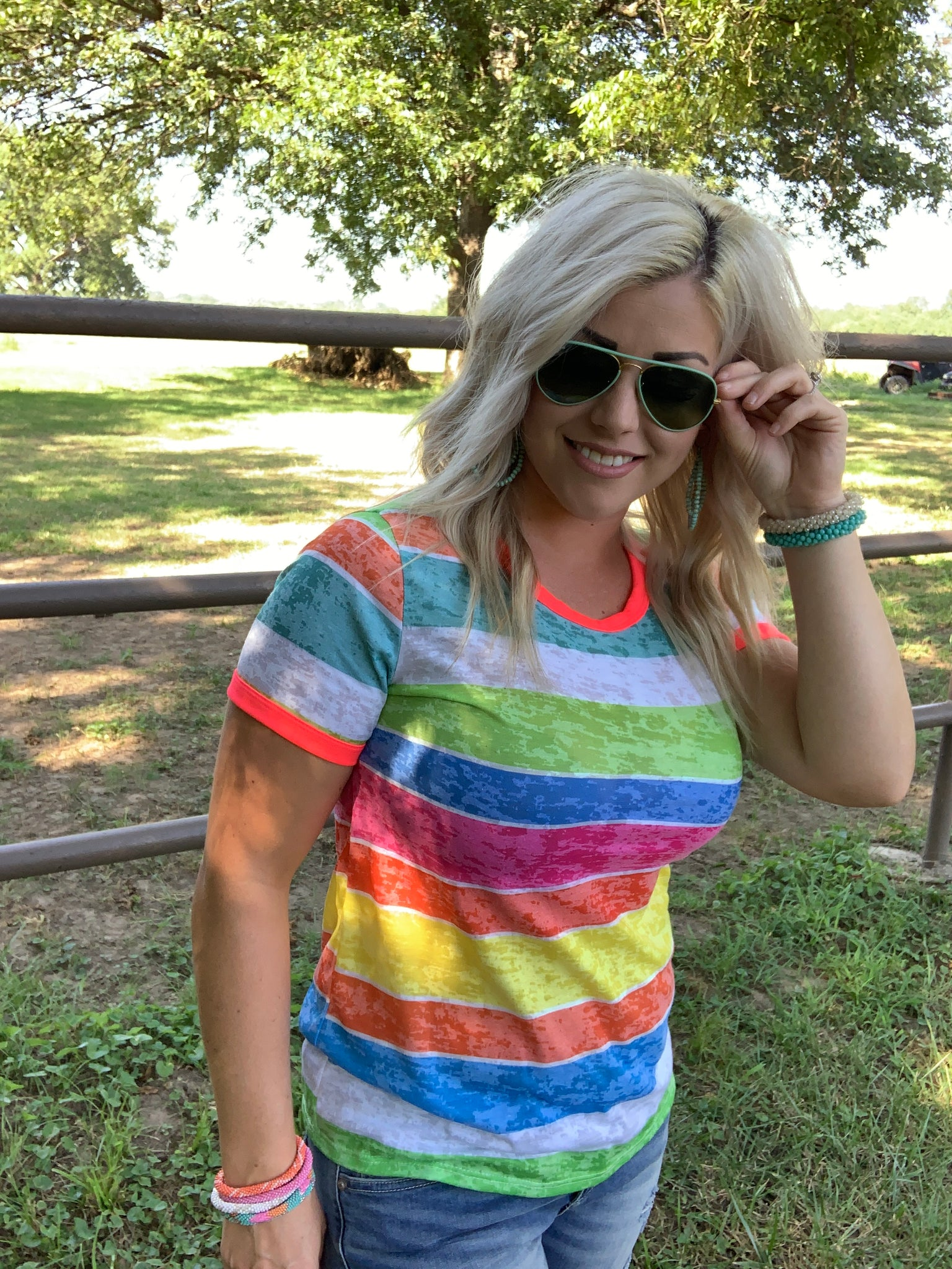 Neon Stripes Top